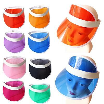 69fcb790a4a Unisex Plastic Sun Visor Hat Headband Cap For Golf Tennis Stag Poker Party
