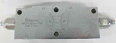 """COUNTER BALANCE VALVE, DUAL 30-210 BAR 1/2"""" BSPP Made in Italy FREE POST AU!"""