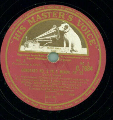 Benno Moiseiwitsch & The Philharmonia Orchestra by Basil Cameron - Concerto No.