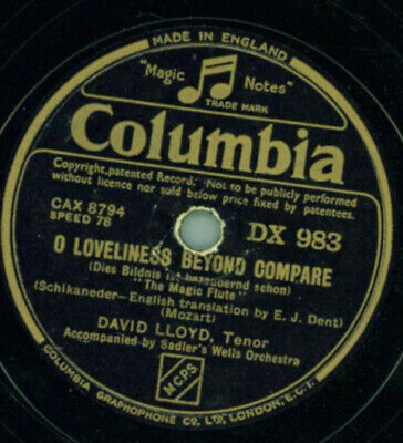 David Lloyd - O loveliness beyond compare / Speak for me to my Lady