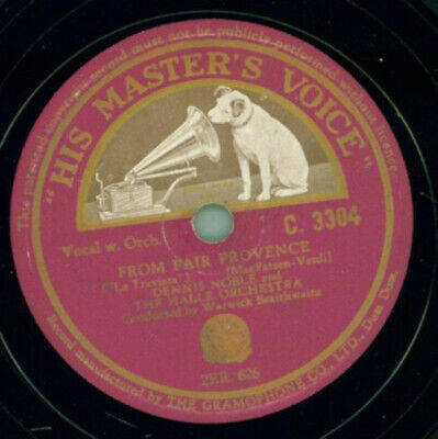Dennis Noble - From fair provence / Say goosd-bye now to pastime and play