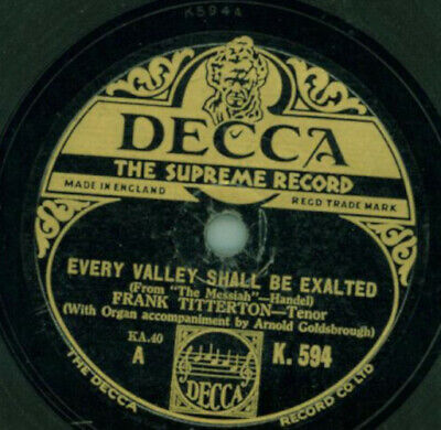 Frank Titterton - Every Valley shall be exalted / Sound an Alarm