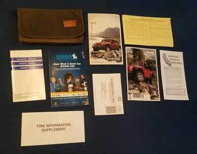 2011 Jeep Wrangler Owners Manual w/ Case & Supplements *7