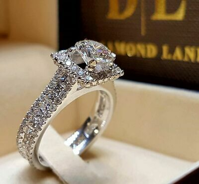 Dazzling Women Wedding Engagement White Sapphire Ring 925 Silver Jewelry Sz 6-10