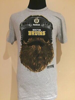 "NHL Boston Bruins MED 2014 Stanley Cup Playoffs ""Beard"" Printed Tee by Reebok"