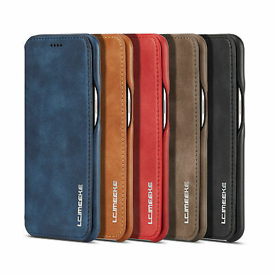 For Samsung Galaxy S10 Plus S10e Leather Magnetic Flip Wallet Phone Case Cover
