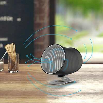 Portable USB Cooling Rotatable Desk Fan Quiet Touch Control Cylindrical Fan