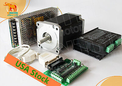 US FREE 1Axis Nema Motor 1232oz-in&Driver7.8A +350w 60vcnc router kit engraving