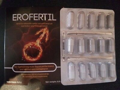 Erofertil,food supplement,for maintaining male sexual perfomance,15 capsules