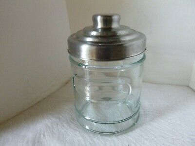 Art Deco Lidded Glass Coffee Other Jar Canister