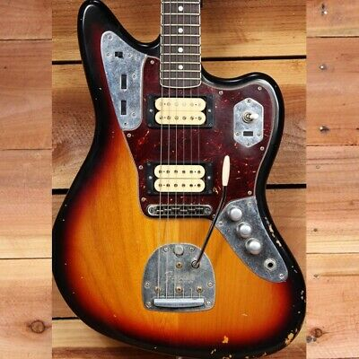 FENDER KURT COBAIN JAGUAR ROAD WORN + OHSC + Papers Nirvana Relic 09386