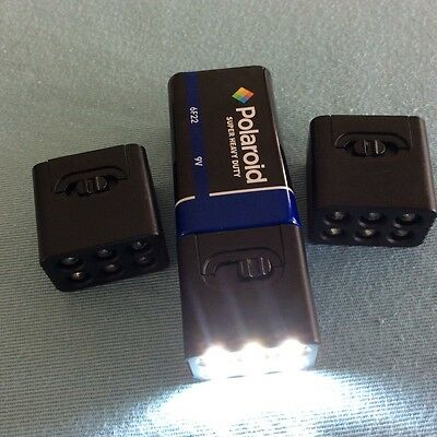 NEW BRIGHTER  3x Blocklight 9v,6LED Flashlight Torch,1x9v battery-Blackout