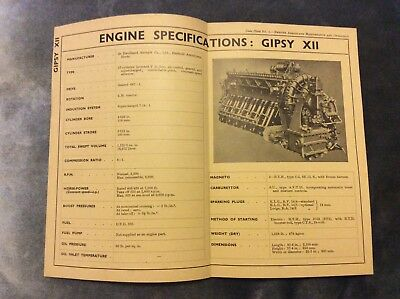 De Havilland Gipsy 12 Engine Specifications