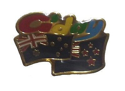 G'day ANZAC FLAG PIN Australia/New Zealand Hat Lapel aussie NZ suit/shirt badge