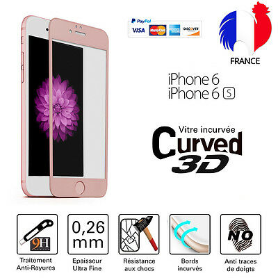 TEMPERED GLASS WINDOW 3D Pink Screen protection Film Integral Total iPhone 6/6S