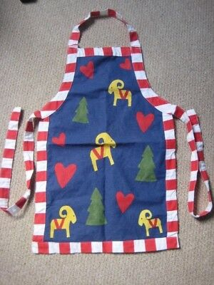 Childrens Ikea Blue, Red and White Apron for Baking -good condition
