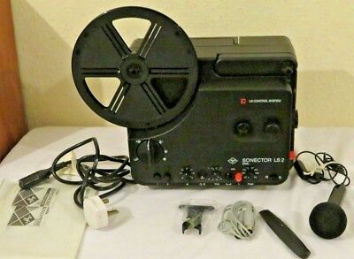Agfa Sonector Ls2 8Mm Film Projector With One Reel And Accessories