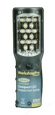 Ring WorkshopPro Compact 15 LED Inspection Lamp Rechargeable Cordless Belt Clip