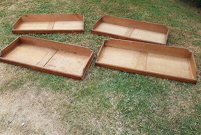 4 Antique Mahogany Linen Press Shelves/ Drawers. Delivery available.