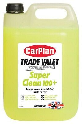 CarPlan Trade Super Clean 100 Plus 5L Concentrate Multi Purpose Car Valeting