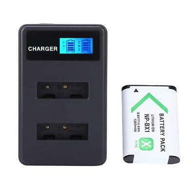 NP-BX1 Battery Charger Dual Slot USB Charging with LCD Screen for Sony DSC-RX100