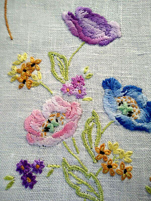Charming Anemone Flowers ~ Hand embroidered Centrepiece