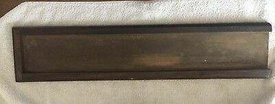 """Antique letterpress galley tray metal w/ a wooden frame  23"""" x 3.5"""" Authentic"""