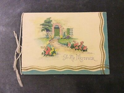 Vintage Mother's Day Card - 1930s