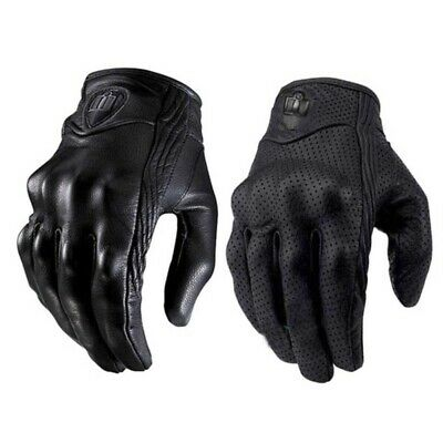 Touch Screen Leather Glove For Motorcycle Riding Bicycle Racing Protective Armor