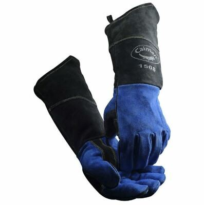 "Caiman 1508 MIG / STICK Welding Gloves 18"" COW SPLIT KONTOUR One Size Large TIG"