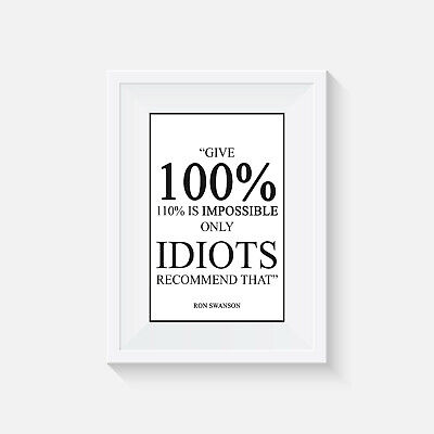 ron swanson , Home Decor, Quote Poster, Wall Art, Parks and Recreation, print