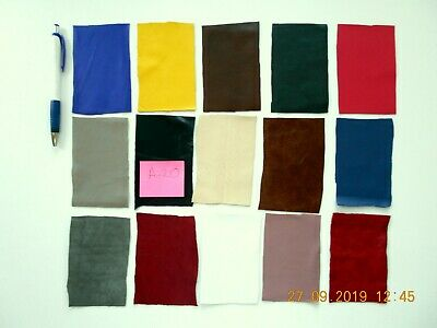 Brand New 15 piece GENUINE LEATHER SCRAPS, OFF CUTS for CRAFTS & HOBBIES-Lot A14