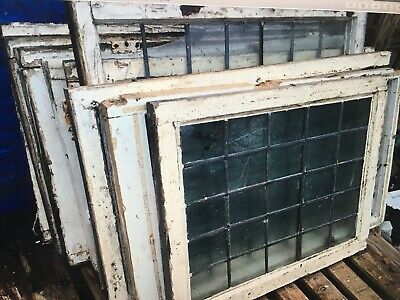 Antique Victorian Vintage Leaded Glass Windows Salvage Architectural Designer