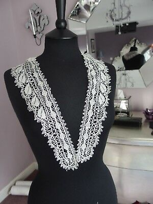 antique handmade lace collar