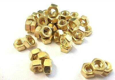BA Hexagon full nuts. 0BA. Brass. Full nuts. Hex. Pack of 80. *Top Quality!