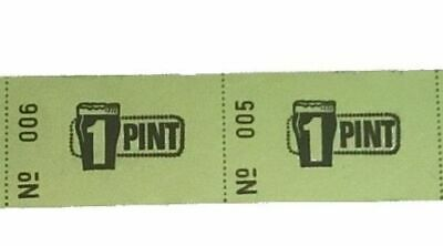 1 1000 One Pint Roll Tickets Serial Numbered Event Voucher Food and Drink Token
