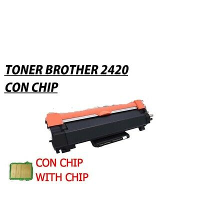 Toner Compatibile Per Brother Tn2420 Hl 2310 2350 2370 2375 2510 2530 Con Chip