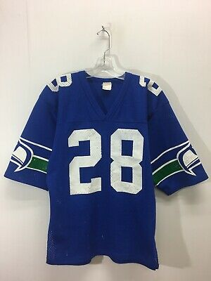 60cdfb20 VTG 70S 80S Rawlings SEATTLE SEAHAWKS Jim Zorn Football Jersey Adult ...