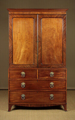 Antique Regency Mahogany Linen Press c.1820.