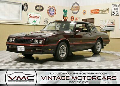 1986 Chevrolet Monte Carlo SS  Low Miles - Laser Straight - Well Preserved
