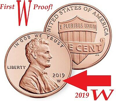 2019 W West Point Premium PROOF Lincoln Shield Cent Penny Coin Deep Cameo GEM