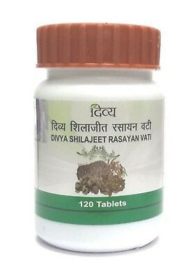 4 x 120 Patanjali Divya Shilajeet Rasayan Vati 480 Tablets - Men Sexual wellness