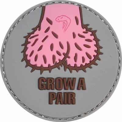 Viper Rubber PVC Patch Grow a Pair Airsoft Paintball Moral Patch 60x60