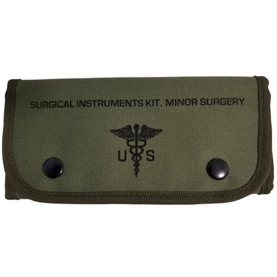 US Military Style Surgical Instrument Kit, Minor Field Surgery, With Contents