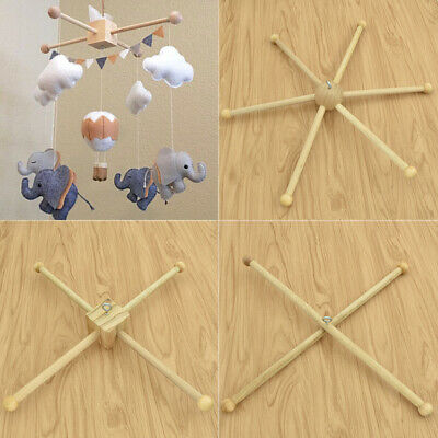 Baby Hanger Crib Wooden Crafts Frame  Mobile DIY Crafts Handmade Newborn Toy
