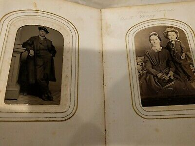 Antique photo book approx 40-50 old style black and white photos