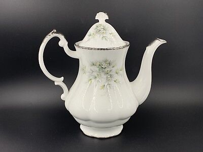 Paragon Large First Love Coffee Pot England Bone China