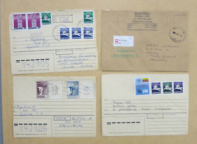 Lithuania, lot 23 - Four 1990's Covers with Various Early Stamps