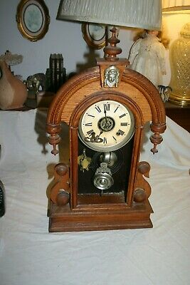 Antique Clock Late 1800's or Early 1900's for Parts