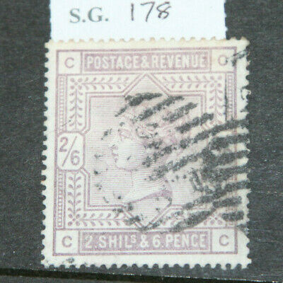 Gb 1883 2/6 Lilac On White Paper (Sg178) Good Used